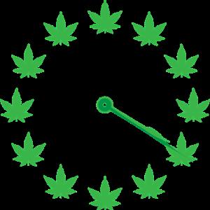 שעון מחוגים מורה על השעה 16:20